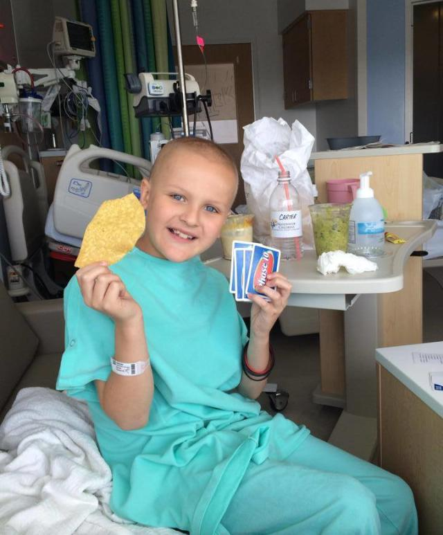 Even while going through treatment, Carter is always a source of joy and positivity.