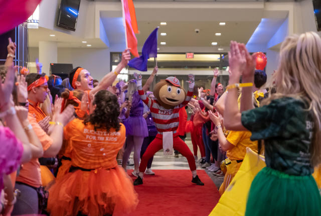 Brutus at the 2020 Dance Marathon Opening Ceremony