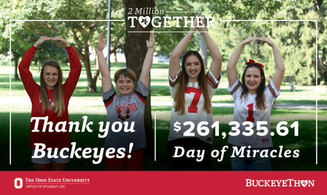 Thank you Ohio State for raising $261,335.61 For The Kids!