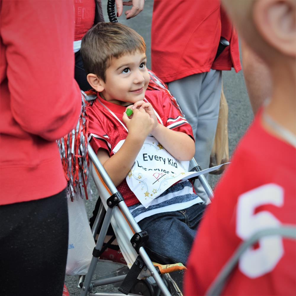 Corbin was one of the stars of the Homecoming Parade!